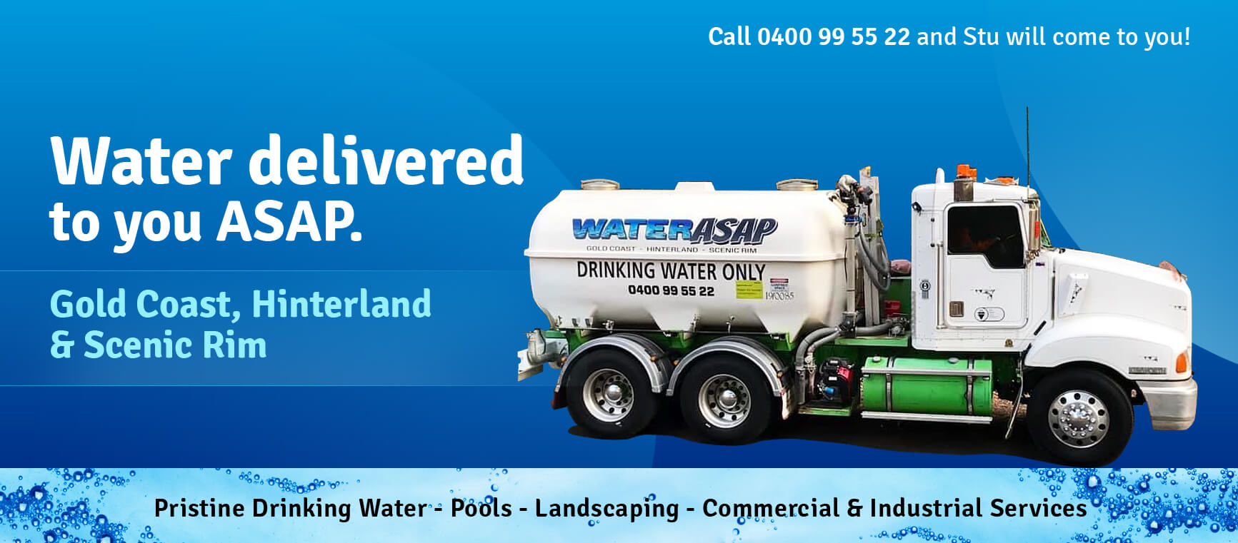 Tank water delivery gold coast